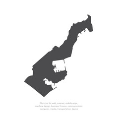 Map monaco isolated black on vector