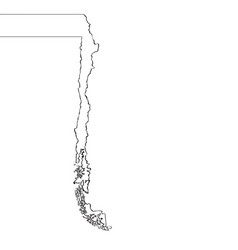 map of chile continous line vector image