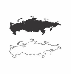 Maps of russia vector