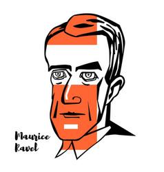 maurice ravel portrait vector image