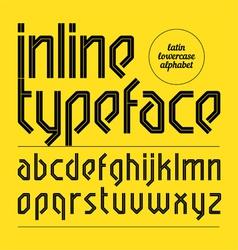 Modern inline typeface vector