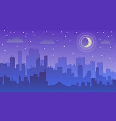 night city dark urban scape vector image