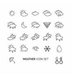 outline weather icon black and white vector image