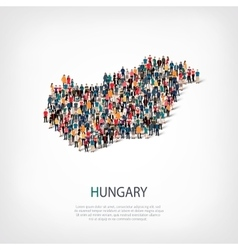 people map country hungary vector image
