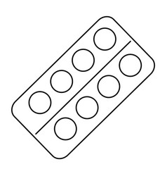 pills drugs isolated icon vector image
