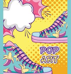 Pop art funny cartoons vector