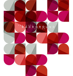 round square geometric shapes on white tile vector image