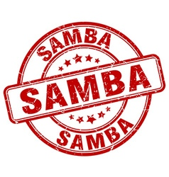 Samba red grunge round vintage rubber stamp vector