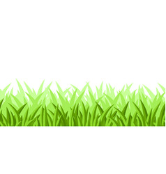 seamless patterm with grass vector image