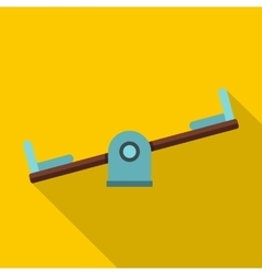 Seesaw on a playground icon flat style vector