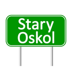 Stary Oskol road sign vector