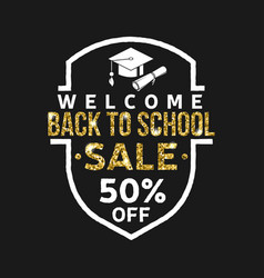 Super back to school sale design vector