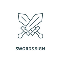 swords sign line icon linear concept vector image