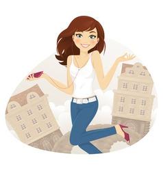 Teen girl vector image