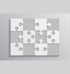 The grey piece puzzle banner 12 steps background vector