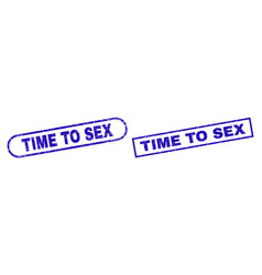 Time to sex blue rectangle watermark with unclean vector