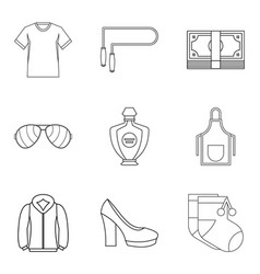Trading firm icons set outline style vector