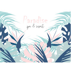 tropical jungle summer of different vector image
