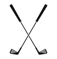 Two golf clubs icon simple style vector