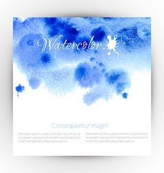 Watercolor card design vector