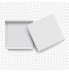 white empty open packing cardboard box for mockup vector image