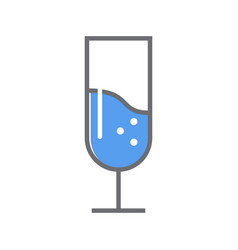 wine glass line icon outline style vector image