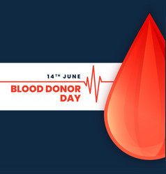 World blood donor day concept poster vector