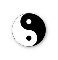 Yin yang icon harmony symbol vector