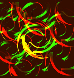 background of fire circles vector image vector image