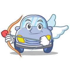 cupid cute car character cartoon vector image vector image