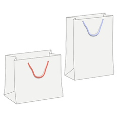 Drawing of two white shopping paper bags vector image vector image