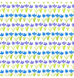 Grunge pattern with small hand drawn flowers vector image vector image
