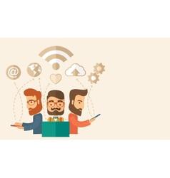 Office teamwork workers vector image vector image