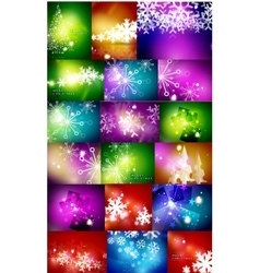 Set of Christmas abstract backgrounds vector image vector image