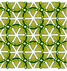 lime seamless pattern hand drawn background for vector image