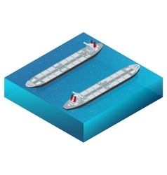 Oil tanker oil and gas industry and sea vector