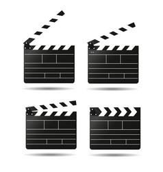 Clap movie board clapper vector
