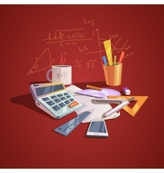 Math science concept vector image vector image