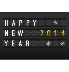 Mechanical timetable happy New Year 2014 card Set vector image vector image