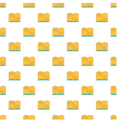 old open magic book pattern seamless vector image