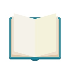 open book notebook icone vector image