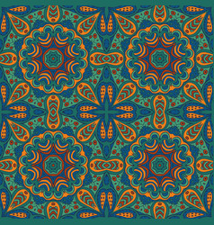 seamless background ethnic doodle motives zentagl vector image