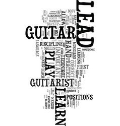 you can learn to play lead guitar text word cloud vector image vector image