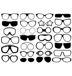 Different Eyeglasses Isolated vector image vector image