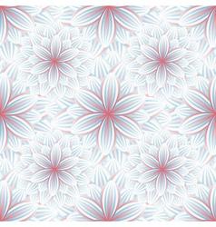 Seamless pattern with flower chrysanthemum vector image