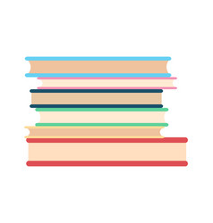 stack of paper books icon vector image