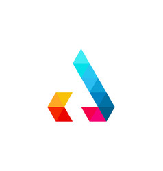 a letter colorful triangle logo icon vector image