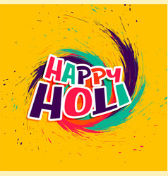 Abstract happy holi wishes card in colorful style vector