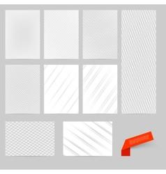Abstract modern flyer brochure design vector