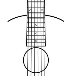 acoustic guitar contour fragment vector image
